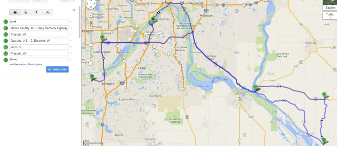 2014-07-23 USB group ride_main map